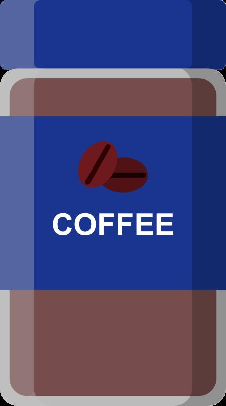 インスタントコーヒー青