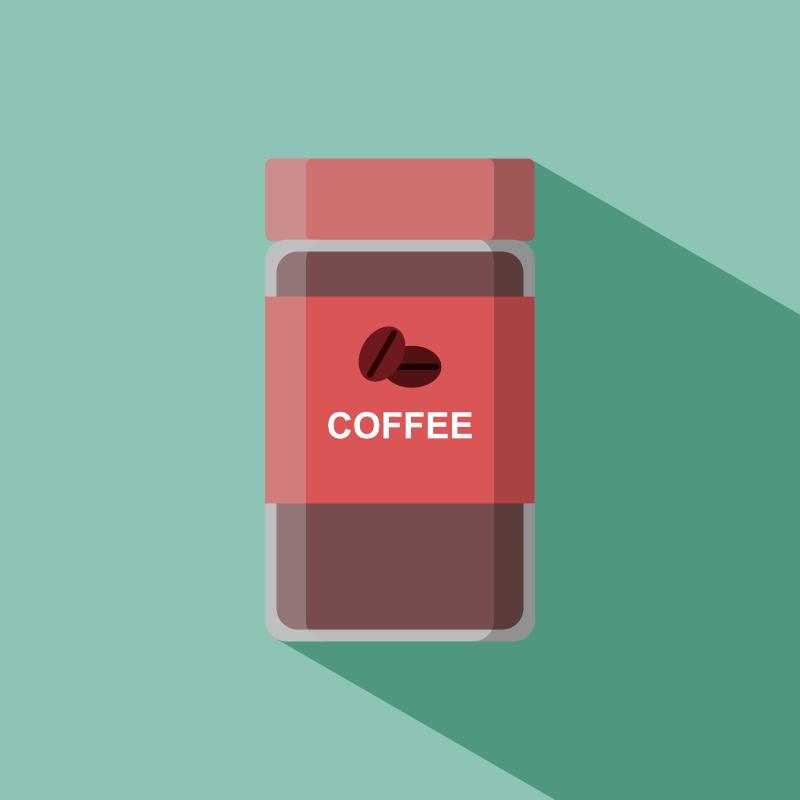 インスタントコーヒー赤